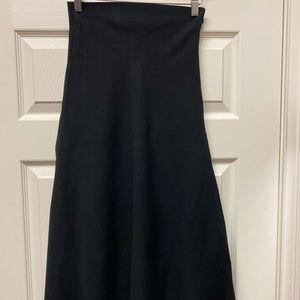 ZARA High waist long black a line skirt